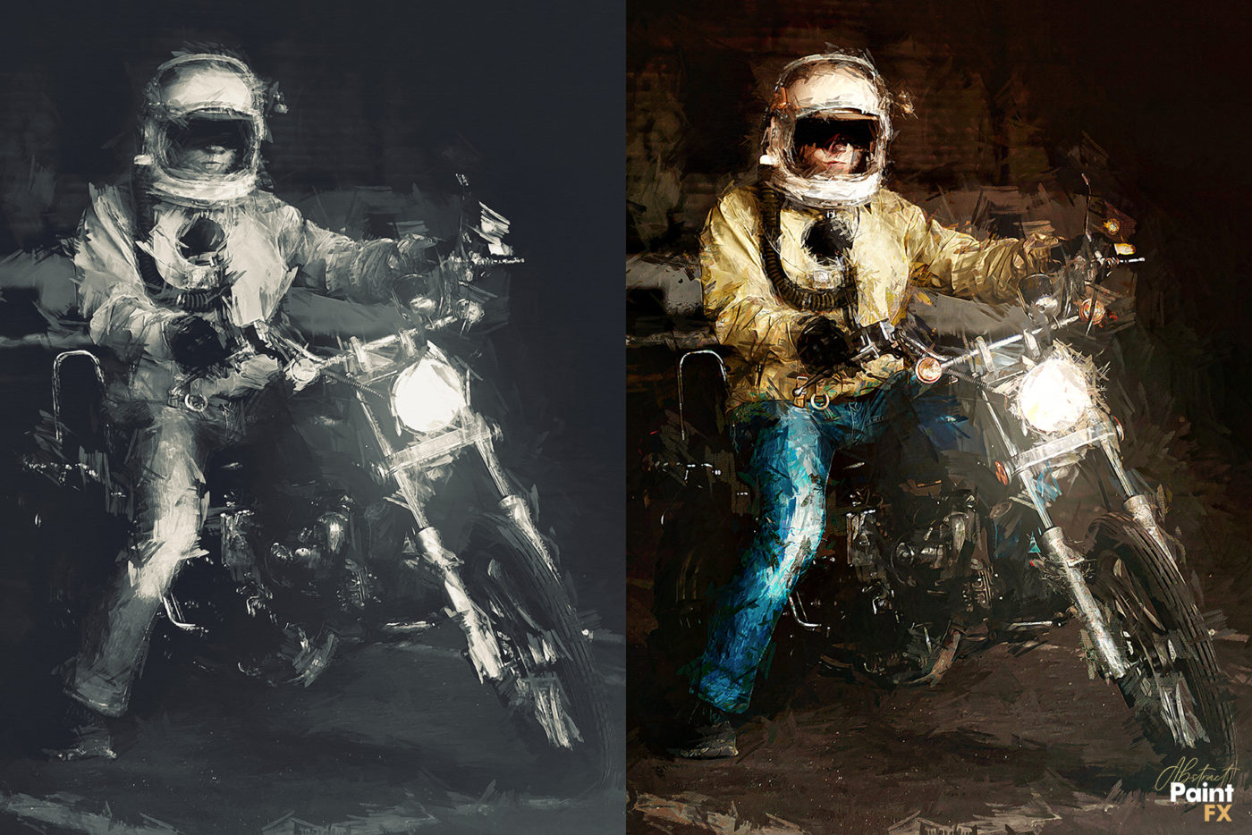 photography transformed into a painting with a Photoshop Plugin